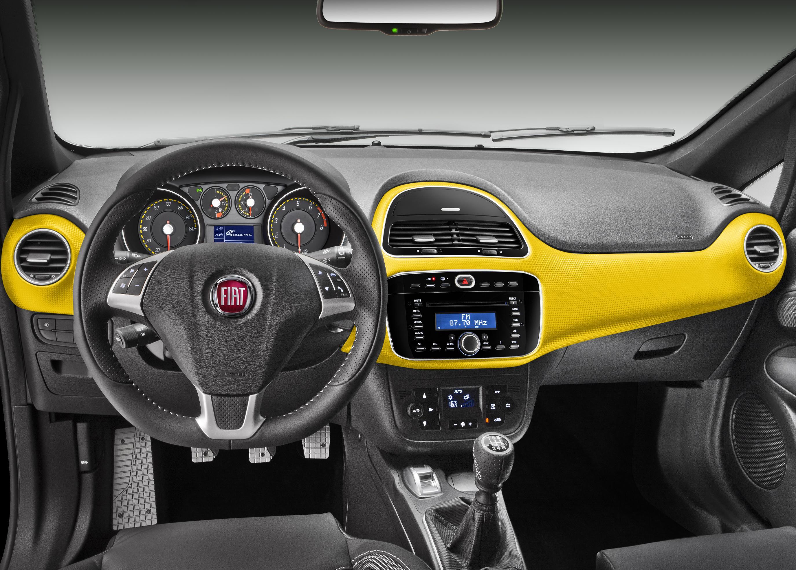 Novo Fiat Punto 2013 Fotos interior