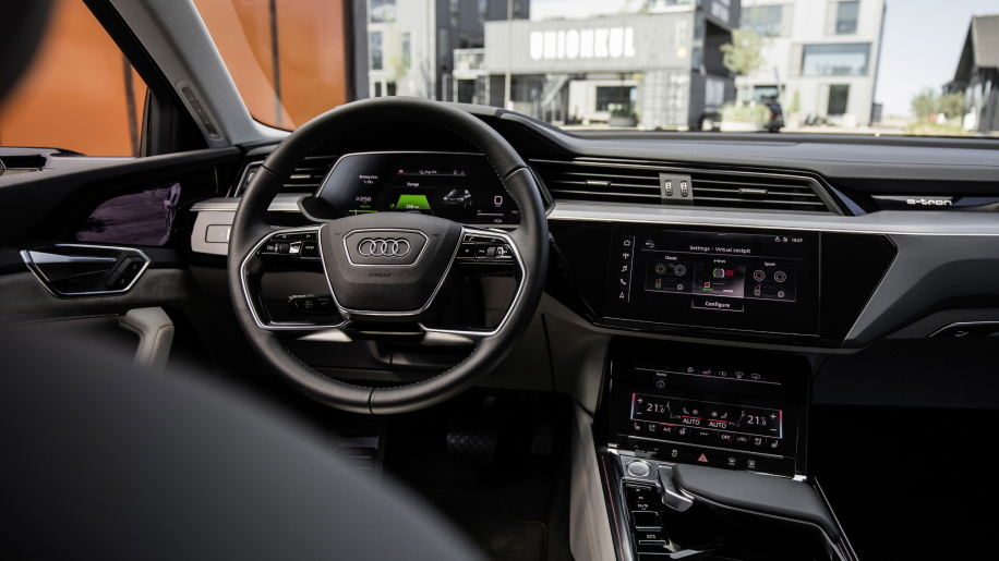 audi revela interior do e tron all the cars. Black Bedroom Furniture Sets. Home Design Ideas