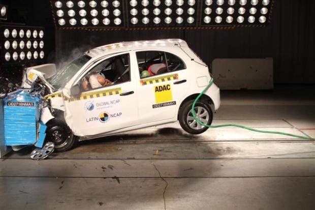 Nissan March Latin NCAP Crash